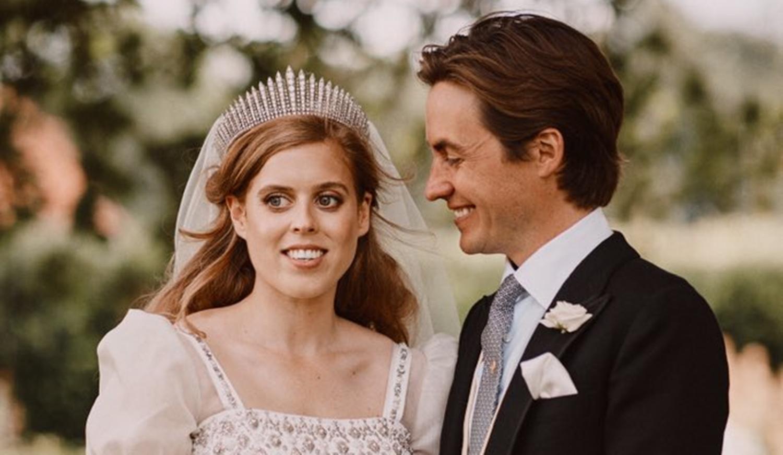 Princesa Beatrice e seu noivo Edoardo.