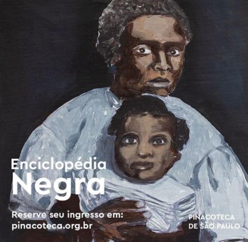 Cartaz da Exposição Enciclopédia Negra.