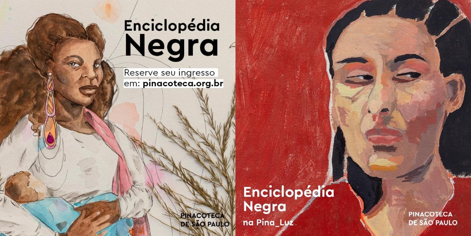 Cartazes da Exposição Enciclopédia Negra.