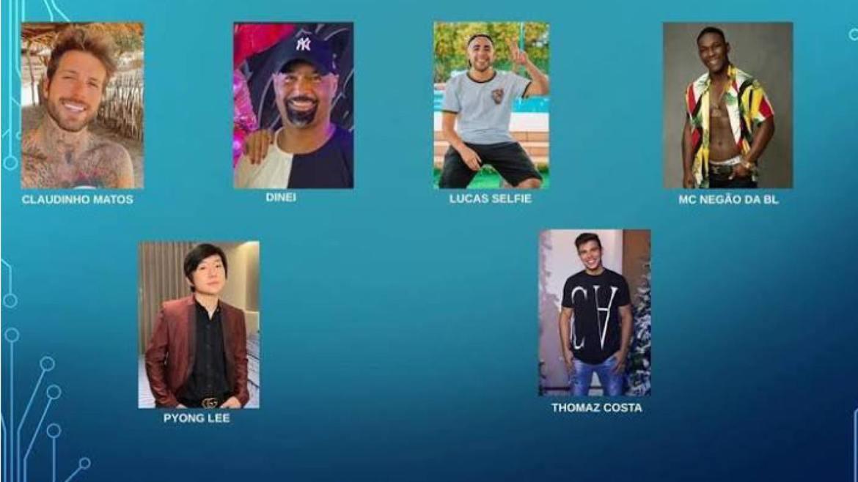 Os integrantes do time masculino de A Ilha Record (imagem: R7)