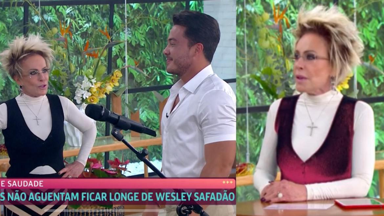 A produção de Ana Maria preparou um Mais Você especial para Wesley Safadão (montagem: Fashion Bubbles)