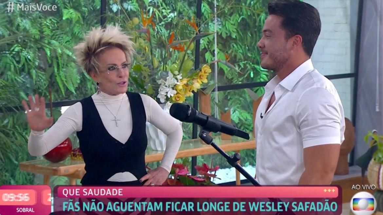 Ana Maria Braga tem mais Você especial com Wesley Safadão (imagem: reprodução)