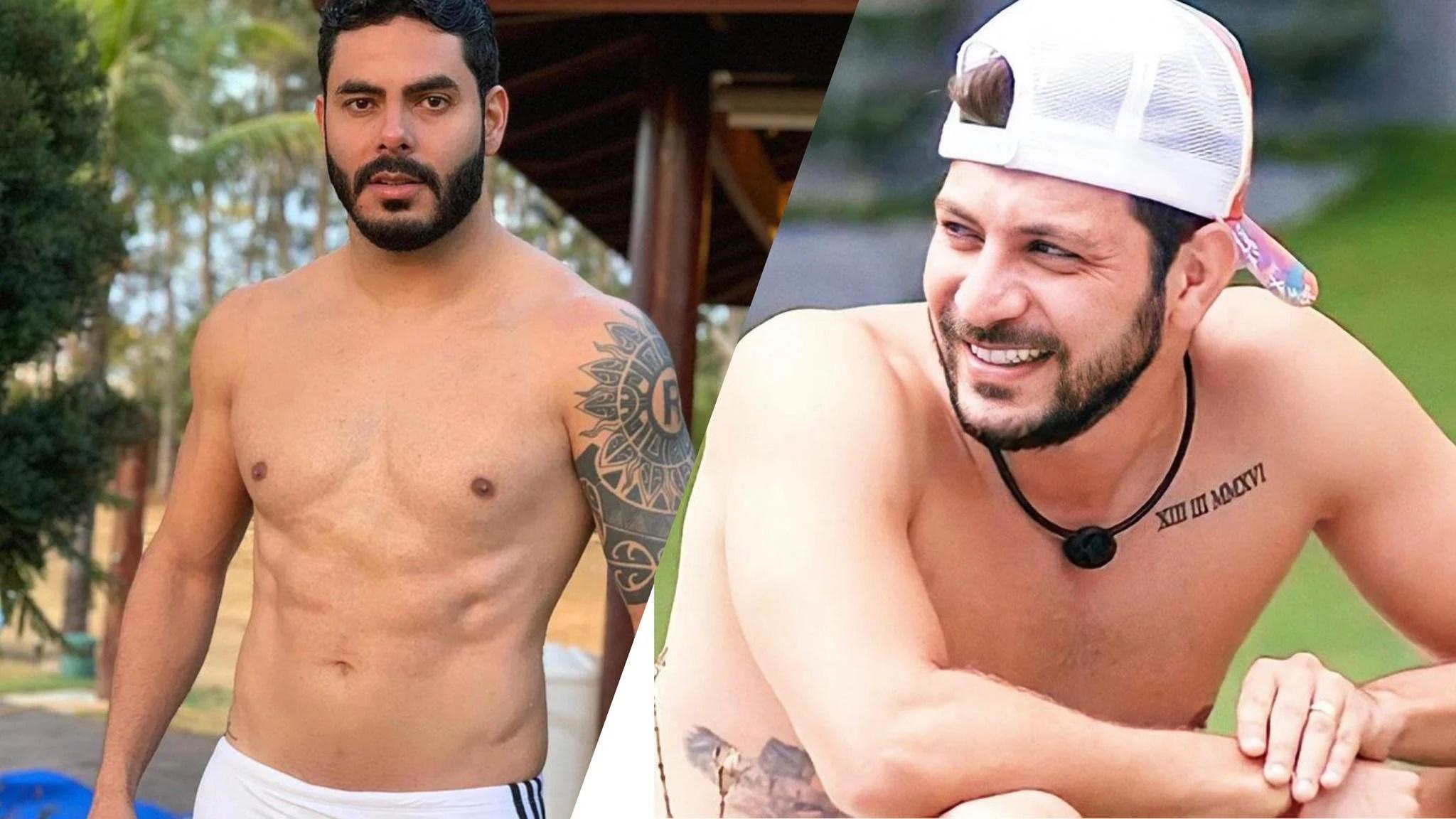 Rodolfo e Caio não se desgrudam mais após o BBB 21 (montagem: Fashion Bubbles)