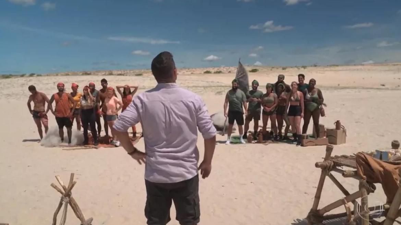 No Limite está dividido entre as tribos Carcará e Calango (imagem: reprodução)
