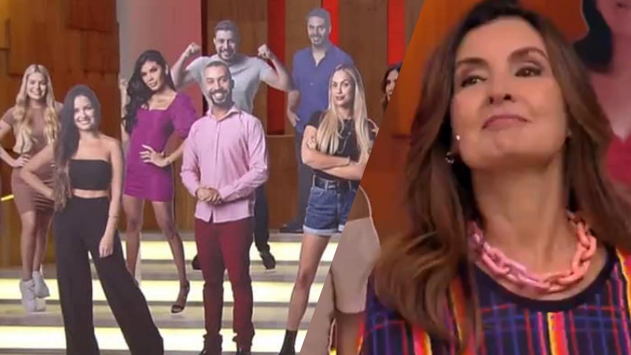 Fátima Bernardes dispensa os totens do BBB 21 após usa-los por 3 meses (montagem: Fashion Bubbles)