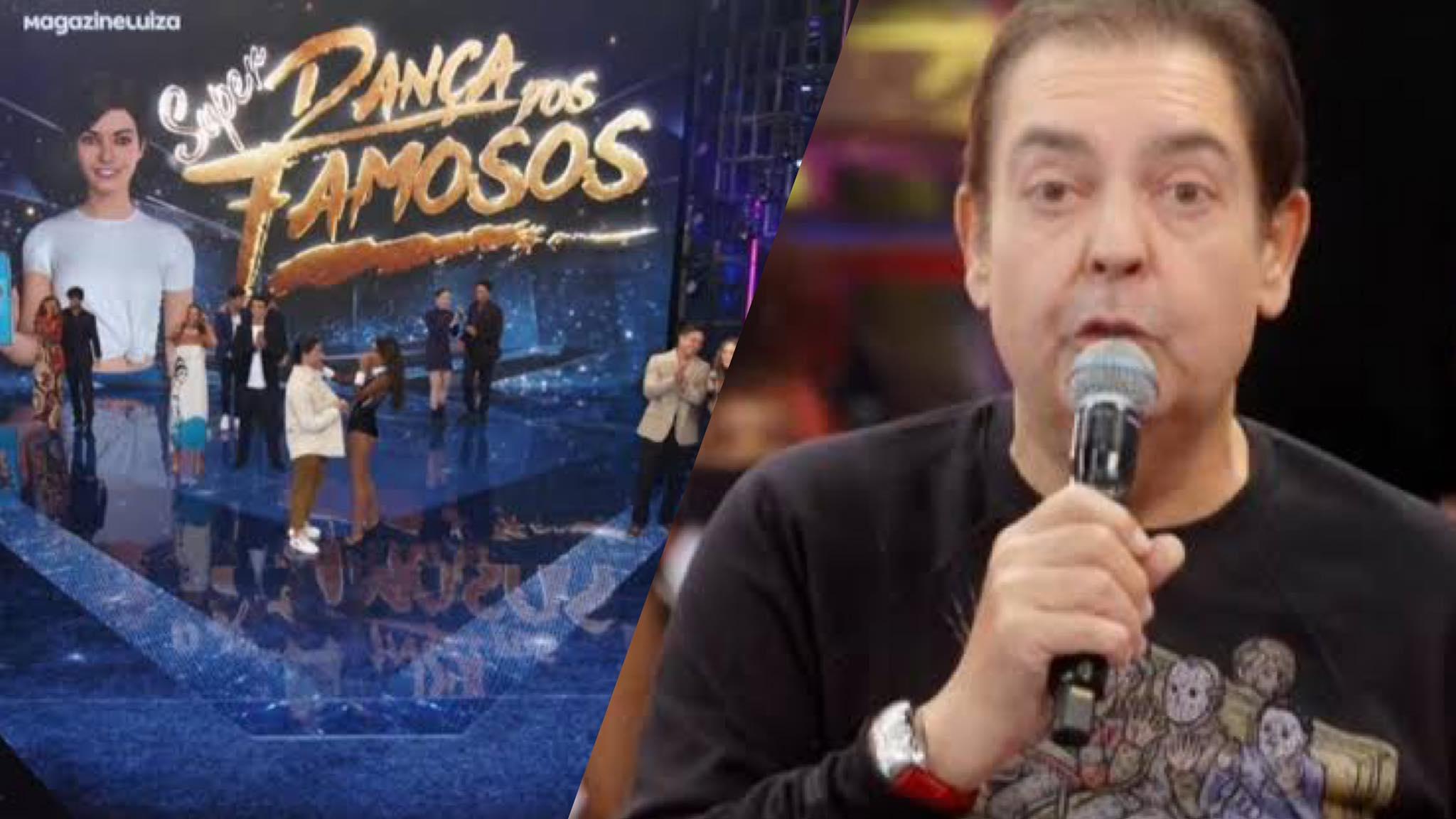 Faustão apresenta parte de elenco do Super Dança dos Famosos (montagem: Fashion Bubbles)
