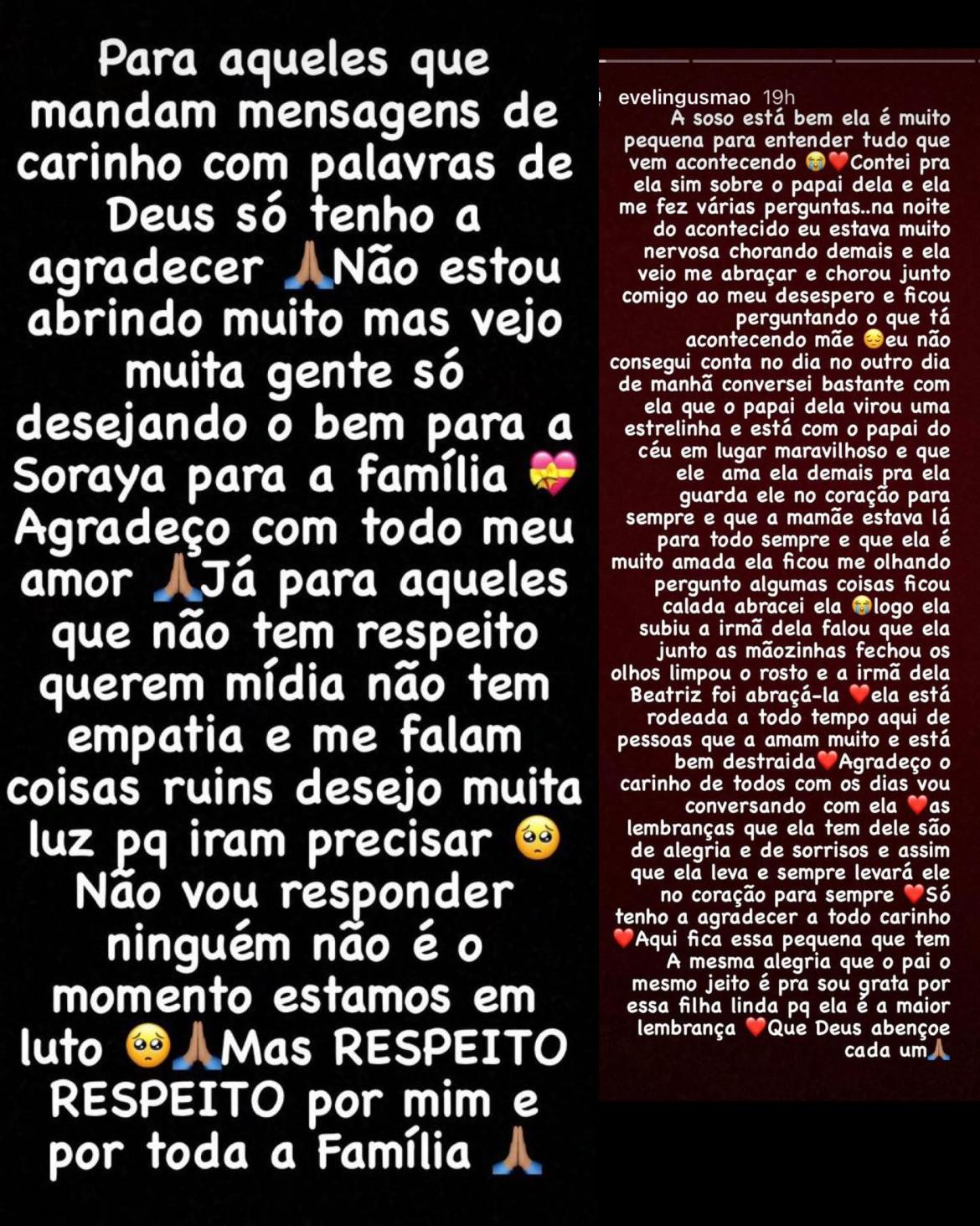 Evelin Gusmão agradece as mensagens de apoio dos fãs de Mc Kevin (montagem: Fashion Bubbles)