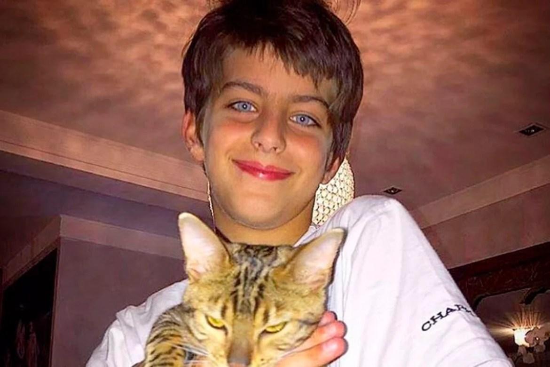 Lucas filho de Isabelli Fontana e Henri Castelli
