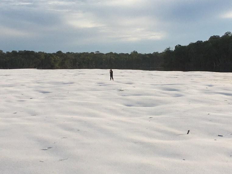 Seca do rio Aracá na Amazônia
