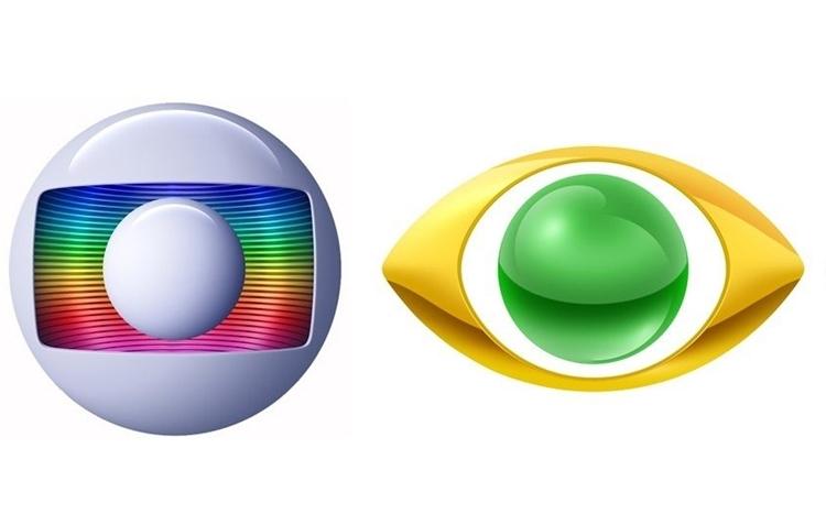Logotipo das emissoras Rede Globo e Band.