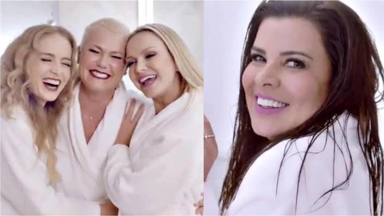Em 2019, Xuxa, Angélica e Eliana protagonizaram um comercial juntas. Após polêmica, Mara Maravilha surgiu em um vídeo sozinha (imagem: reprodução)