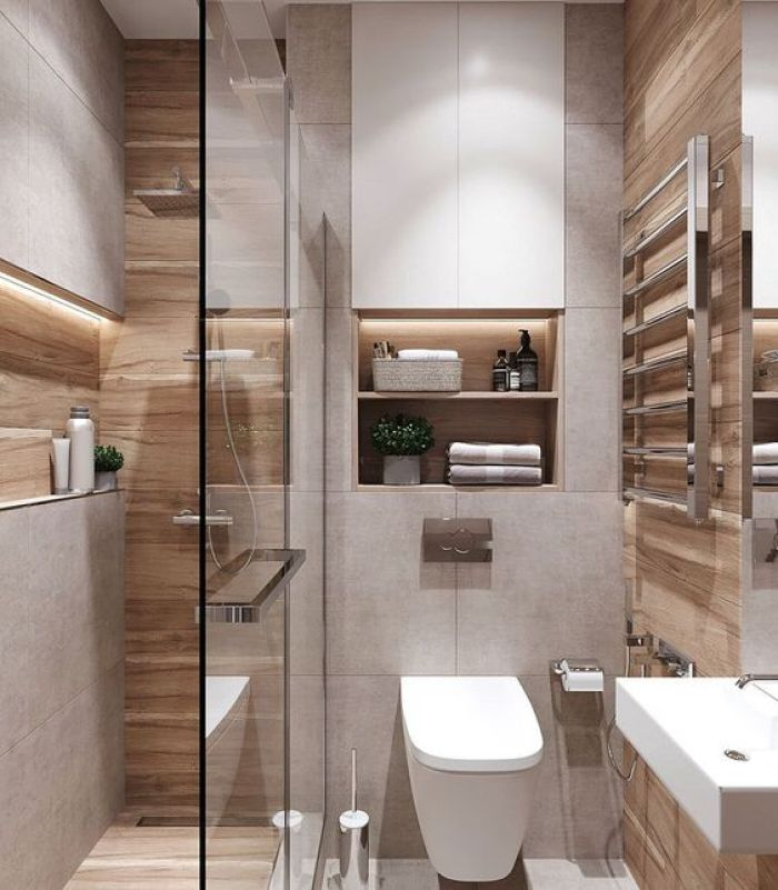 Banheiro organizado.