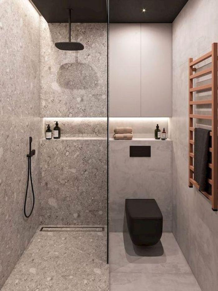 Banheiro planejado moderno.