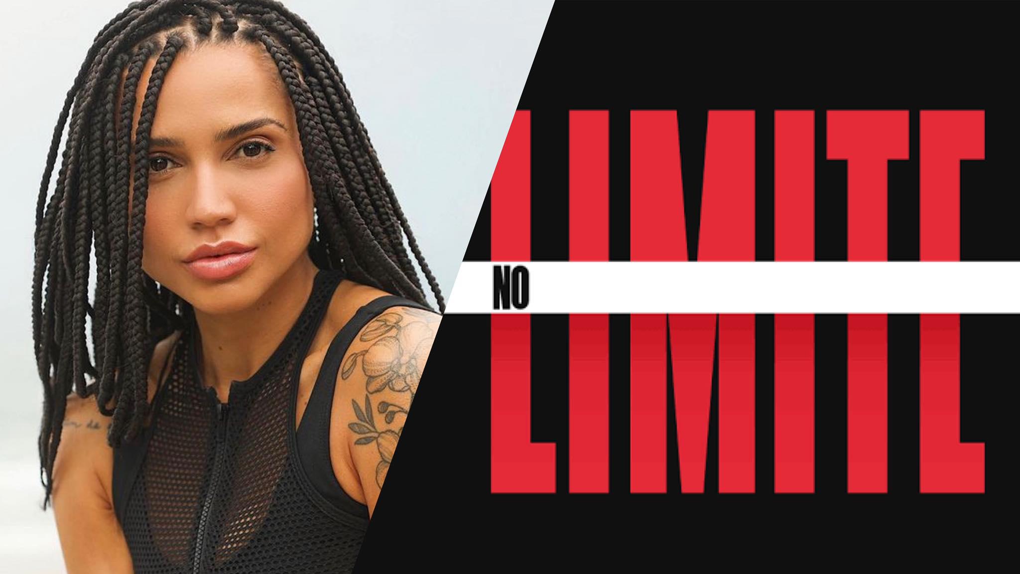 Paula Amorim está em No Limite em busca do prêmio (montagem: Fashion Bubbles)