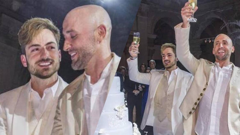 Em 2015, Thales e Paulo Gustavo se casaram no RJ (montagem: Fashion Bubbles)