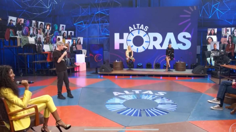 Serginho Groisman recebe Pocah, Luísa Sonza e Camilla de Lucas no Altas Horas (imagem: Reprodução)
