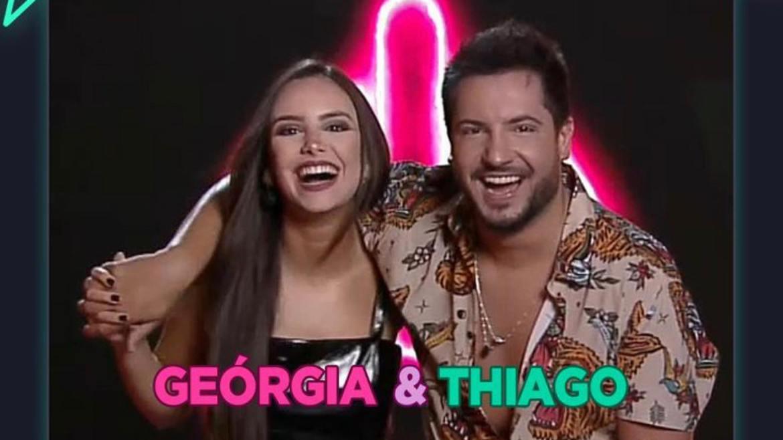 Thiago faz dupla com a amiga Thaeme. No Power Couple irá jogar com a esposa Geórgia Frohlich (imagem: divulgação)