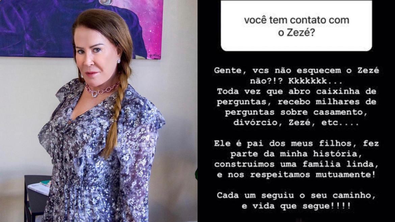 Zilu Godoi fala de sua relação com Zezé Di Camargo (montagem: Fashion Bubbles)