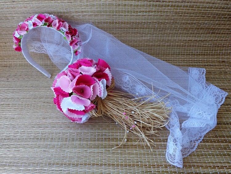 véu de noiva festa junina