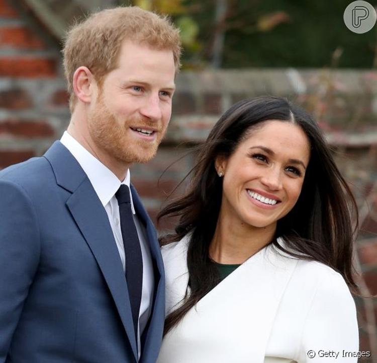 Príncipe Harry e sua esposa.