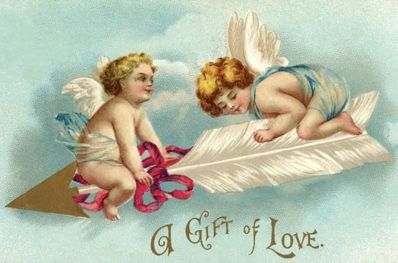 Imagens de cupidos de Dia dos Namorados.