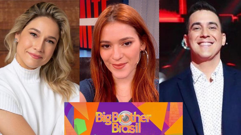 Ana Clara disputa vaga da apresentação do BBB 22 com Fernanda Gentil e André Marques (montagem: Fashion Bubbles)