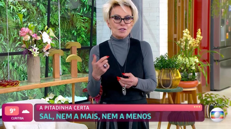 Ana Maria Braga comanda o Mais Você (imagem: reprodução)