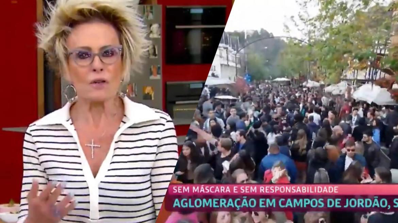 Ana Maria Braga faz críticas ao público que invadiu Campos do Jordão (montagem: Fashion Bubbles)