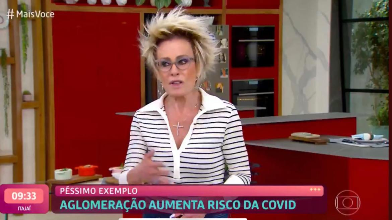Ana Maria Braga começa o Mais Você indignada (imagem: reprodução/ Globo)