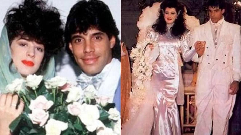 Claudia Raia e Alexandre Frota foram casados entre 1986 até 1991 (montagem: Fashion Bubbles)
