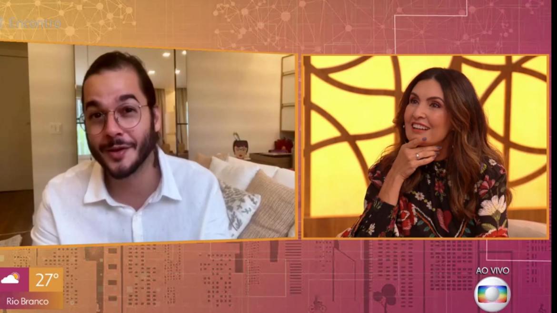 Fátima Bernardes é pega de surpresa por Túlio Gadêlha e ganha declaração de amor (imagem: reprodução)