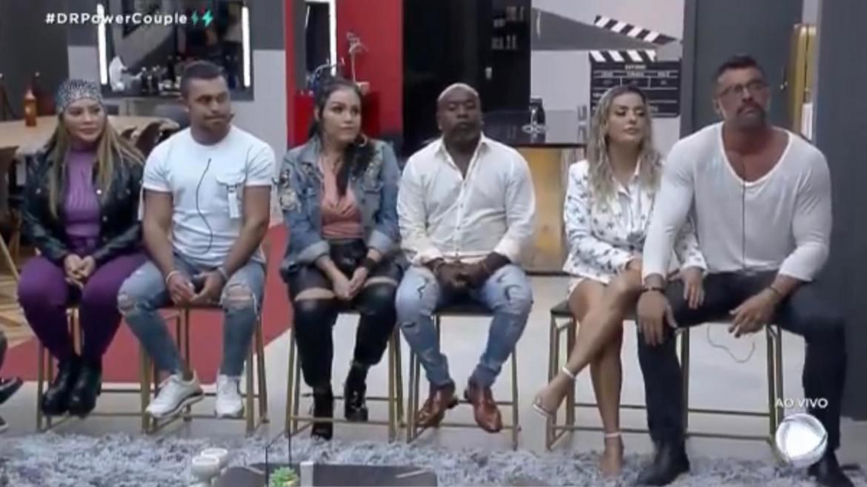 Márcia e Rod, Bibi e Pimpolho e Li e JP estão na DR do Power Couple (imagem: reprodução)