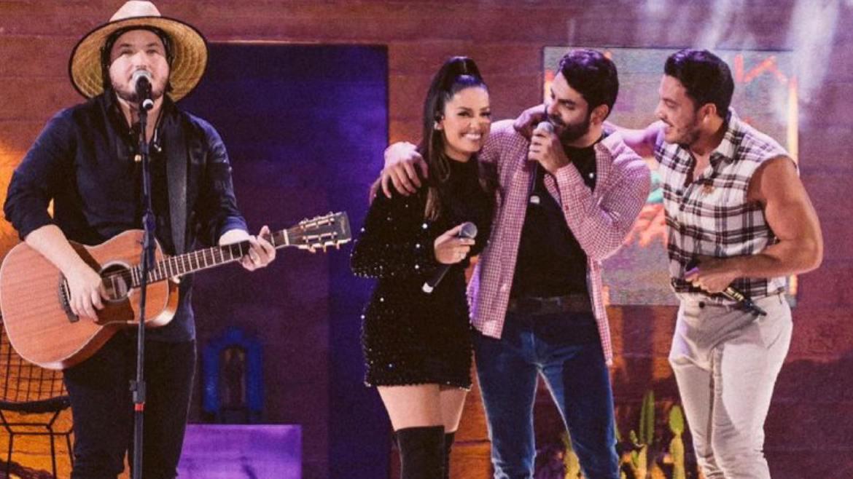 Wesley Safadão recebe Israel e Rodolffo e Juliette Freire em sua live junina (imagem: Instagram)