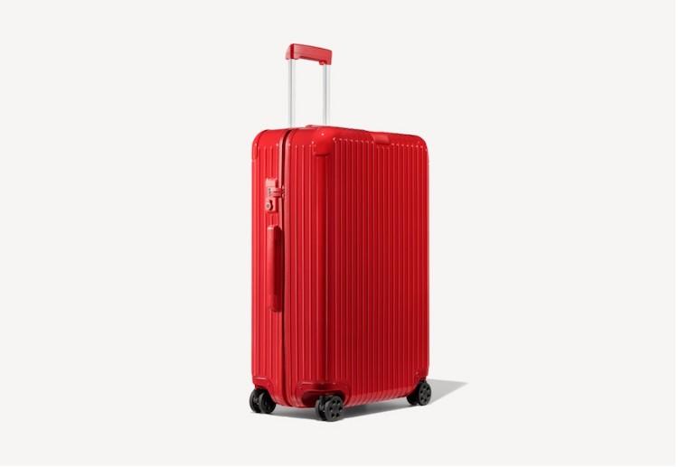 Mala vermelha, ideal para viagens longas