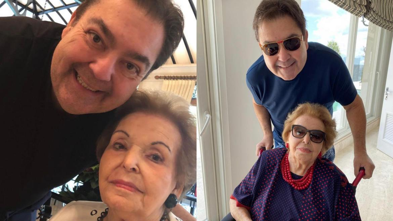 Fausto prestou uma linda homenagem à Dona Cordélia em novembro no ano passado no Domingão (montagem: Fashion Bubbles)