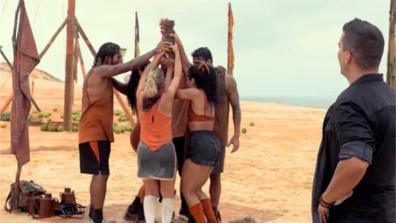 Carcará comemora mais uma vitória em No Limite (imagem: Gshow)