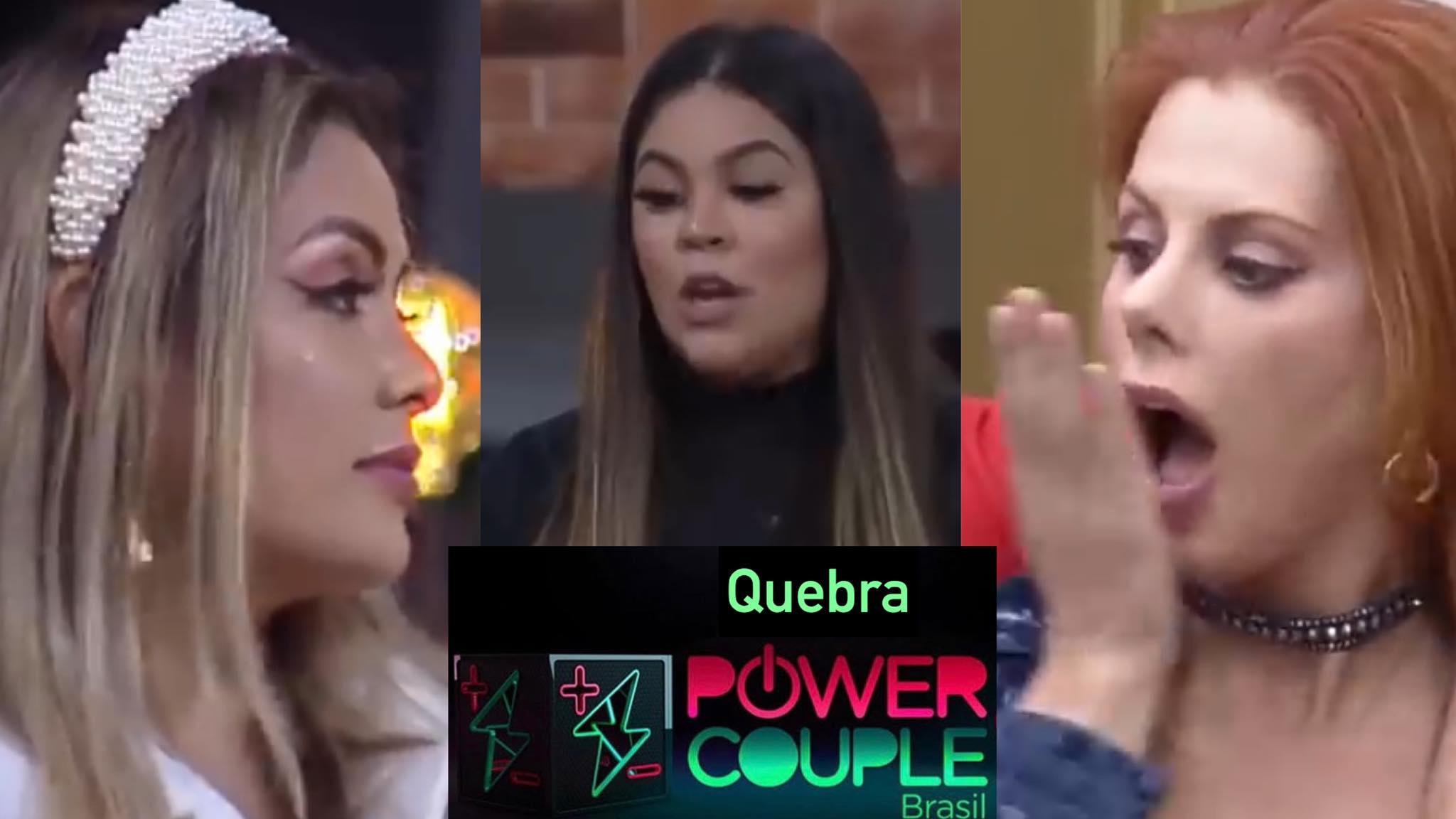 """Power Couple, Li Martins e Deborah ganham cartas """"indesejáveis"""" no Power Couple (montagem: Fashion Bubbles)"""