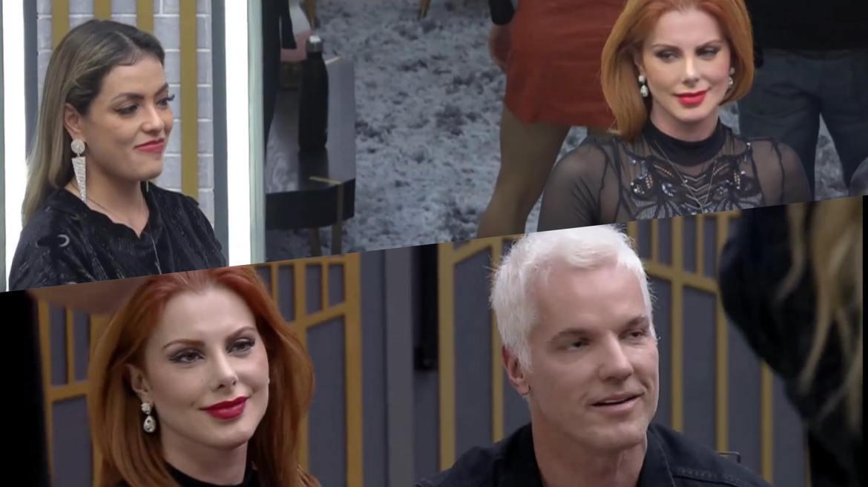 Deborah, Li Martis e Bruno recebem Mari e Matheus com caras e bocas (montagem: Fashion Bubbles)