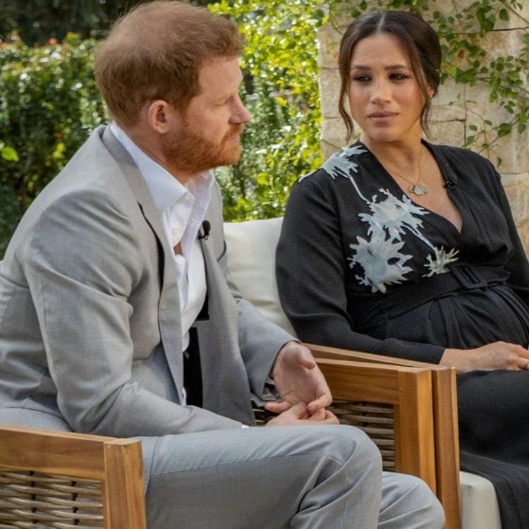 Ex-casal real em entrevista com Oprah Winfrey.