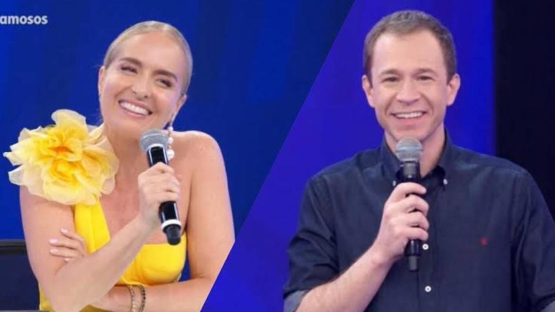 """Tiago pede """"ajuda"""" para Angélica apressar a ida de Luciano Huck aos domingos (montagem: Fashion Bubbles)"""