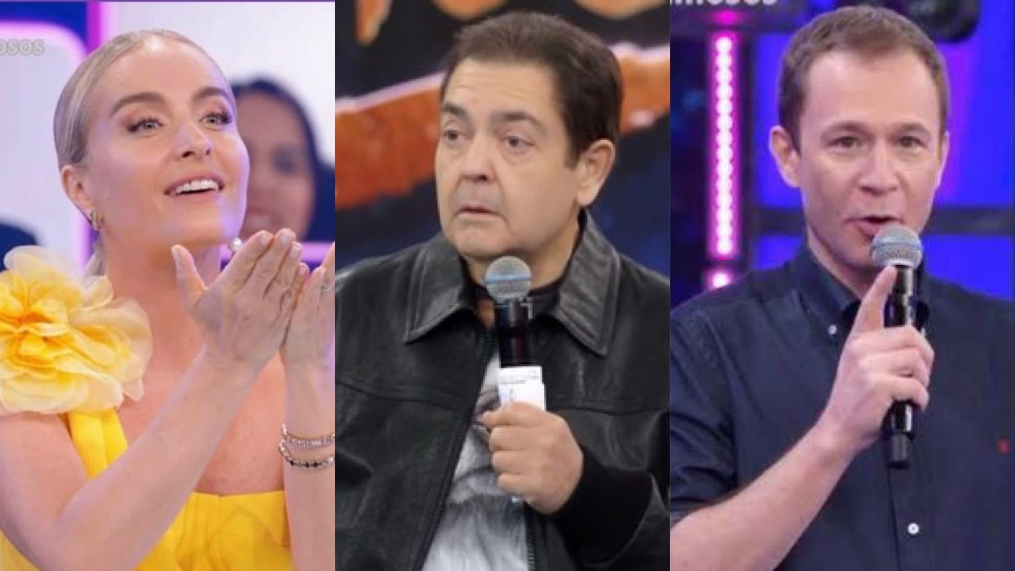 Angélica, Tiago e outros famosos fazem homenagem à Faustão após saída do apresentador da Globo (montagem: Fashion Bubbles)
