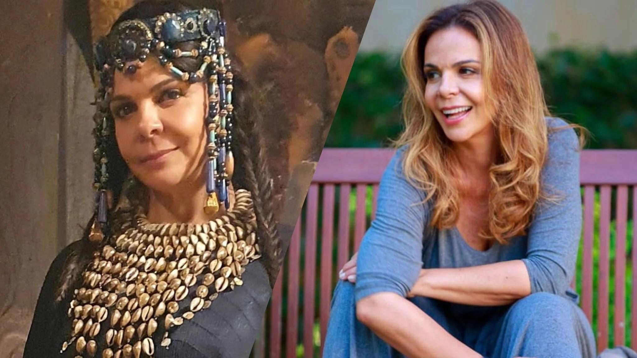 Sula Miranda faz sua estreia como atriz na novela Gênesis na Record TV (montagem: Fashion Bubbles)