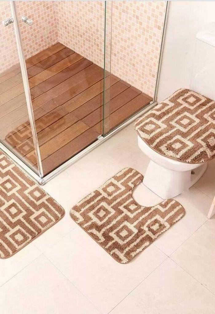 Kit de Tapete para banheiro.