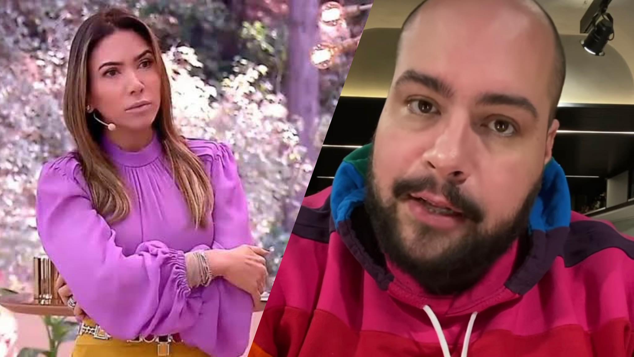 "Tiago Abravanel faz discurso após fala de Patrícia Abravanel sobre ""intolerância"" (montagem: Fashion Bubbles)"