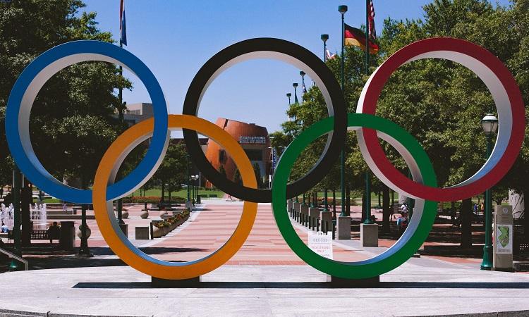 foto dos anéis olímpicos