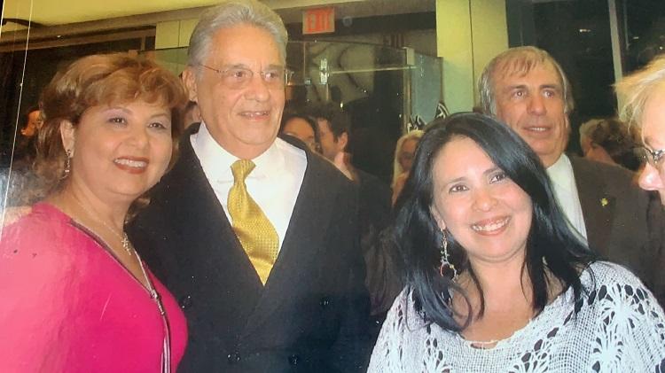Fernando Henrique Cardoso ao lado de Alcinda Saphira
