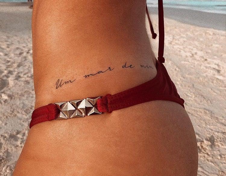 frase para tatuagem de mar