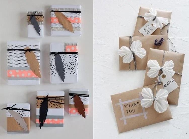Embalagens criativas com washi tape