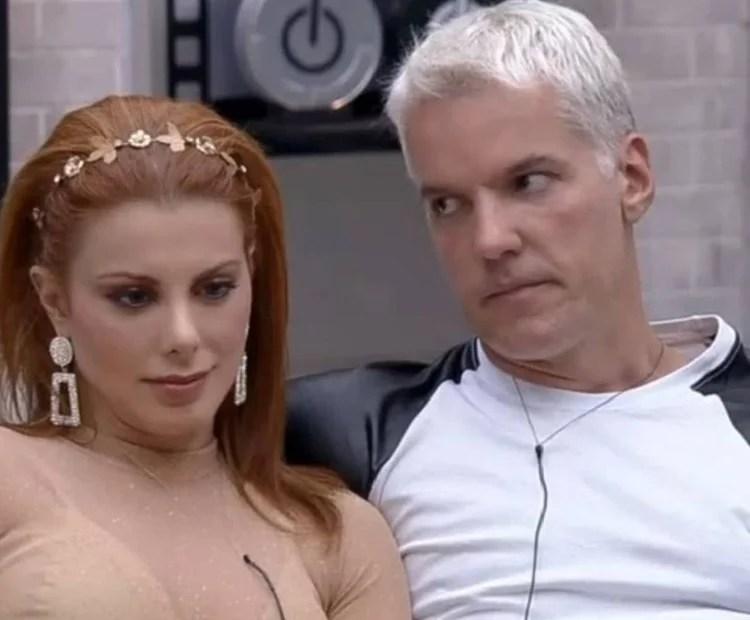 Deborah e Bruno durante programa Power Couple 2021