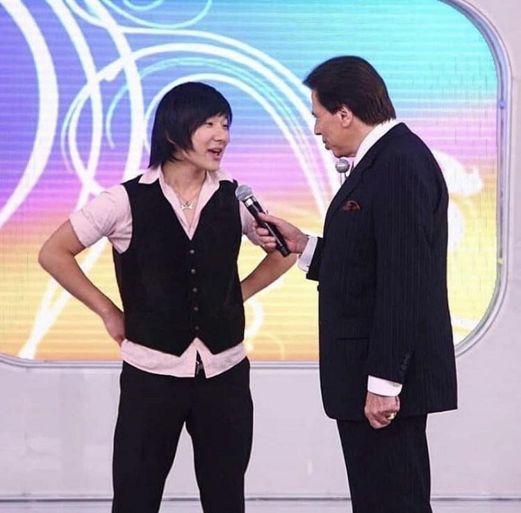 Pyong Lee com Silvio Santos
